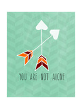 You are Not Alone Giclee Print by Linda Woods