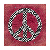 Pink Peace Zebra Prints by Stephanie Marrott