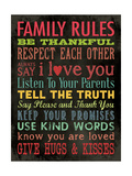 Family Rules - Color Poster von Stephanie Marrott