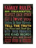 Family Rules - Color Giclée-Druck von Stephanie Marrott