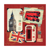 London Collage I Posters by Stephanie Marrott