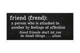 Friends Definition Giclee Print by Anna Quach