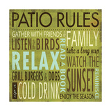 Patio Rules Giclee Print by Stephanie Marrott
