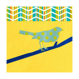 Teal Bird II Giclee Print by Linda Woods