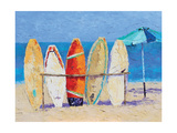Resting on the Beach Prints by Leslie Saeta