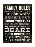 Family Rules - Black II Lámina giclée por Stephanie Marrott