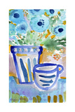 Tea and Flowers Giclee Print by Linda Woods