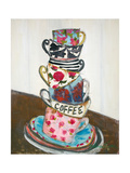 Cup Stack Kunstdrucke von Melissa Lyons