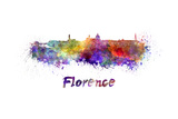 Florence Skyline in Watercolor Prints by  paulrommer