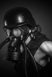 Nuclear Disaster, Man with Gas Mask, Protection Posters by  outsiderzone