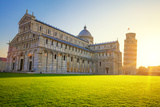 Pisa Leaning Tower and Cathedral at Sunrise Fotodruck von  prochasson