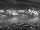 Cumulus Clouds over Water Photographic Print by  marilyna