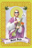 Saint Dude: Patron Saint Of Stoners Photographic Print by Noble Works