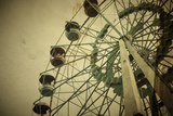 Aged Vintage Photo of Carnival Ferris Wheel with Toned F/X Photographic Print by  Kuzma