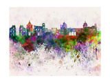 Palermo Skyline in Watercolor Background Poster by  paulrommer