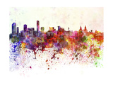 Liverpool Skyline in Watercolor Background Prints by  paulrommer