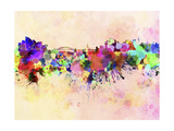 paulrommer - Sydney Skyline in Watercolor Background - Poster