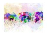 Athens Skyline in Watercolor Background Prints by  paulrommer