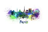 Paris Skyline in Watercolor Prints by  paulrommer