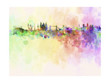 London Skyline in Watercolor Background Print by  paulrommer