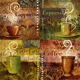 Coffee 5 Four Coffees Posters by Viv Eisner