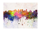 San Diego Skyline in Watercolor Background Posters by  paulrommer