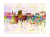 Geneva Skyline in Watercolor Background Posters by  paulrommer