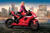 Marilyn's Red Ride - Norma Jean Photographie par JJ Brando