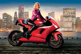 Marilyn's Red Ride - Norma Jean Photographic Print by JJ Brando