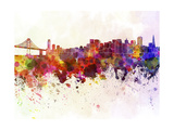 San Francisco Skyline in Watercolor Background Prints by  paulrommer