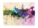 paulrommer - Seville Skyline in Watercolor Background Plakát