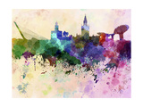 paulrommer - Seville Skyline in Watercolor Background - Poster