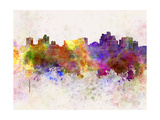 Reno Skyline in Watercolor Background Prints by  paulrommer