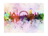 Kiev Skyline in Watercolor Background Poster by  paulrommer