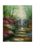 Misty Gate Print by Jason Blackstone