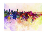 Montreal Skyline in Watercolor Background Poster by  paulrommer