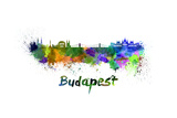 Budapest Skyline in Watercolor Art by  paulrommer