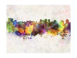 Halifax Skyline in Watercolor Background Prints by  paulrommer