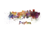 Dayton Skyline in Watercolor Posters by  paulrommer