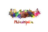 Philadelphia Skyline in Watercolor Poster by  paulrommer
