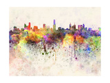 Melbourne Skyline in Watercolor Background Prints by  paulrommer
