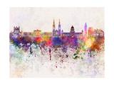 paulrommer - Belfast Skyline in Watercolor Background Plakát
