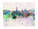 Bern Skyline in Watercolor Background Prints by  paulrommer