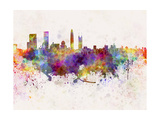 Shenzhen Skyline in Watercolor Background Posters by  paulrommer