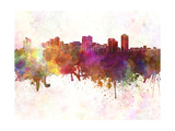 Manila Skyline in Watercolor Background Prints by  paulrommer