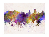 Orlando Skyline in Watercolor Background Posters by  paulrommer