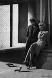 Marilyn and Elvis On the Street Corner Schilderij van Chris Consani