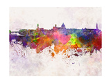 Florence Skyline in Watercolor Background Posters by  paulrommer