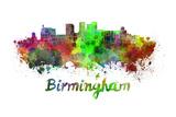 Birmingham Skyline in Watercolor Posters by  paulrommer