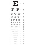 Eye Chart 16-Line Reference Poster Prints